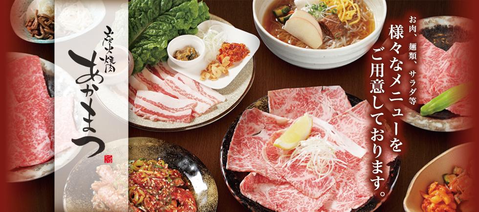 お肉、麺類、サラダ等様々なメニューをご用意しております。